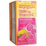 Alacer Emergen-C Pink Lemonade 30/0.33 oz Packets Immune Support