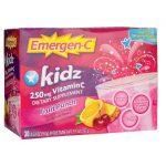 Alacer Emergen-C Kidz Fruit Punch 30/0.33 oz Packets Immune Support