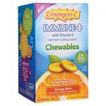 Alacer Emergen-C Immune Plus Orange Blast 42 Chewables Immune Support