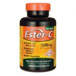 American Health Ester-C 500 mg 225 Veg Tabs Vitamin C Immune Support