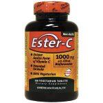 American Health Ester-C with Citrus Bioflavonoids 1,000 mg 120 Veg Tabs Vitamin C Immune Support