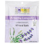 Aura Cacia Mineral Bath – Relaxing Lavender 2.5 oz Package