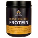 Ancient Nutrition Bone Broth Protein – Turmeric 16.2 oz Powder Joint Health