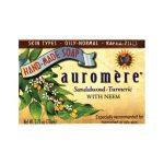 Auromere Ayurvedic Bar Soap Sandalwood-Turmeric 2.75 oz Bars