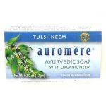 Auromere Ayurvedic Soap – Tulsi-Neem 0.60 oz Bars