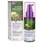 Avalon Organics Brilliant Balance Daily Moisturizer w/ Lavender & Prebiotics 2 fl oz Lotion Skin Care