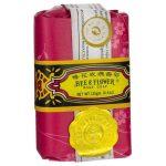 Bee & Flower Rose Soap 4.4 oz Bars