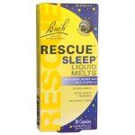 Bach Flower Essences Rescue Sleep Liquid Melts 28 Caps Sleep and Relaxation