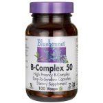 Bluebonnet Nutrition B-Complex 50 100 Vcaps B Vitamins