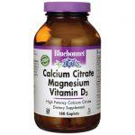 Bluebonnet Nutrition Calcium Citrate Magnesium Vitamin D3 180 Cplts Bone Health