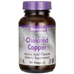 Bluebonnet Nutrition Chelated Copper 3 mg 90 Vcaps Health Minerals