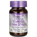 Bluebonnet Nutrition Extra-Strength Chelated Iron 27 mg 90 Vcaps Health Minerals