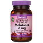 Bluebonnet Nutrition Earthsweet Chewables Melatonin 3 mg 120 Chewables Sleep and Relaxation