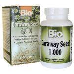 Bio Nutrition Caraway Seed 1,000 mg 60 Veg Caps Digestive Health and Fiber
