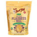 Bob's Red Mill Organic Golden Flaxseed Meal 16 oz Package Essential Fatty Acids