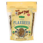Bob's Red Mill Organic Whole Flaxseed 13 oz Package Essential Fatty Acids