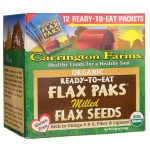 Carrington Farms Organic Ready-To-Eat Flax Paks Milled Seeds 12 ct Essential Fatty Acids