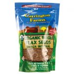 Carrington Farms Organic Whole Flax Seeds 15 oz Package Essential Fatty Acids