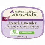 Clearly Natural Glycerine Bar Soap French Lavender 4 oz Bars