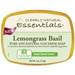 Clearly Natural Glycerine Bar Soap Lemongrass Basil 4 oz Bars