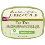 Clearly Natural Glycerine Bar Soap Tea Tree 4 oz Bars