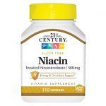 21st Century Niacin Inositol Hexanicotinate 500 mg 110 Caps B Vitamins