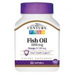 21st Century Fish Oil 1,000 mg 60 Soft Gels Essential Fatty Acids