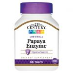 21st Century Papaya Enzyme 100 Chewables Digestive Health and Fiber