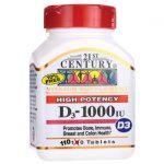 21st Century High Potency D3-1000 Iu 1,000 Iu 110 Tabs Bone Health
