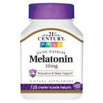 21st Century Melatonin Quick Dissolve – Cherry Flavor 10 mg 120 Tabs Sleep and Relaxation
