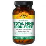 Country Life Target-Mins Total Mins Iron-Free 150 Veg Caps Multivitamins