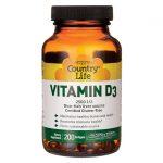 Country Life Vitamin D3 2,500 Iu 200 Soft Gels Bone Health