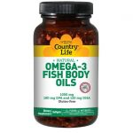 Country Life Omega-3 1,000 mg 300 Soft Gels Essential Fatty Acids