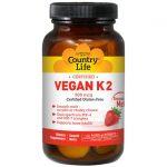 Country Life Vegan K2 500 mcg 60 Lozenges Bone Health