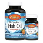 Carlson The Very Finest Fish Oil – Orange 700 mg 120 + 30 Free Soft Gels Essential Fatty Acids
