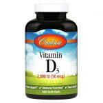 Carlson Vitamin D3 2,000 Iu 360 Soft Gels Bone Health
