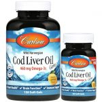Carlson Wild Norwegian Cod Liver Oil Gems – Lemon 150+30 Soft Gels Essential Fatty Acids