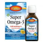 Carlson Super Omega-3 – Lemon 2,600 mg 3.3 fl oz Liquid Essential Fatty Acids