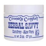Country Comfort Herbal Savvy Comfrey Aloe Vera 2 oz Cream