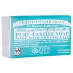 Dr. Bronner's Pure-Castile Soap – All-One Hemp Unscented Baby-Mild 5 oz Bars