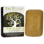 Dr. Woods Raw Black Exfoliating Body Bar 5.25 oz Bars
