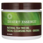 Desert Essence Natural Tea Tree Oil Facial Cleansing Pads – Original 50 ct Skin Care