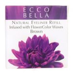 Ecco Bella Natural Eyeliner Refill Infused with Flowercolor – Brown 0.12 oz Unit