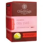 GladRags Colored Reusable Cotton Day Pads for Menstruation 3 ct Women's Health