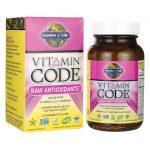 Garden of Life Vitamin Code Raw Antioxidants 30 Vegan Caps Multivitamins