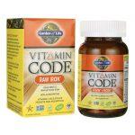 Garden of Life Vitamin Code Raw Iron 30 Vegan Caps Health Minerals