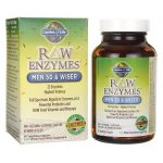 Garden of Life Raw Enzymes Men 50 & Wiser 90 Veg Caps Digestive Health and Fiber