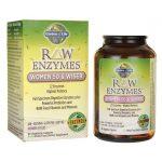 Garden of Life Raw Enzymes Women 50 & Wiser 90 Veg Caps Digestive Health and Fiber