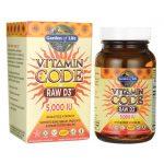 Garden of Life Vitamin Code Raw D3 5,000 Iu 60 Veg Caps Bone Health