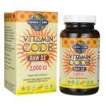 Garden of Life Vitamin Code Raw D3 2,000 Iu 120 Veg Caps Bone Health